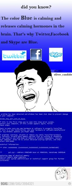 because the blue screen of death is so calming