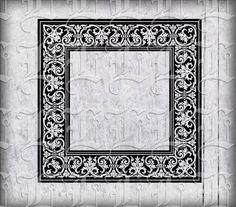 Ornamental Square Frame Renaissance Pattern by luminariumgraphics, $2.20