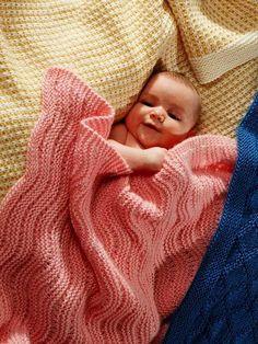Easy Knit Baby Blankets knitting patterns