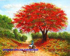 Resultado de imagen para cuadro con arboles rojos