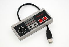For the geek in the fam: NES Controller USB Drive 8GB by 8BitMemory on Etsy