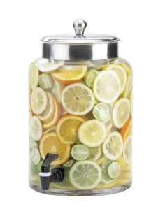 Features:  -Removable spigot for cleaning.  -Directly infuses beverages for premium taste.  -BPA free.  -Capacity: 3 Gallon.  -Material: Glass.  Product Type: -Beverage dispenser.  Material: -Glass.