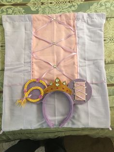 Rapunzel drawstring back pack and matching Minnie ears
