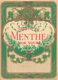 LABLES.....sirop menthe 1 by pilllpat (agence eureka), via Flickr