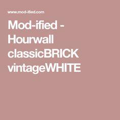 Mod-ified - Hourwall classicBRICK vintageWHITE