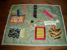 Memory Fidget Busy Blanket Dementia ADH Alzheimers Blind Elderly Fiddle Sensory