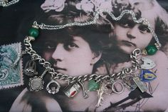 Assemblage Charm necklace Silver assemblage necklace Royal Jewelry, Silver Jewelry, Jewellery, Unusual Jewelry, Handmade Jewelry, Wedding Symbols, Medieval Jewelry, Vintage Charm Bracelet, Claddagh