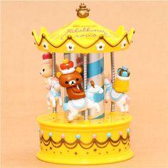 Yellow Rilakkuma Wonderland Bear Carousel Jewel Case Casket $18.15 http://thingsfromjapan.net/yellow-rilakkuma-wonderland-bear-carousel-jewel-case-casket/ #rilakkuma case #san x product #rilakkuma stuff #san x #rilakkuma stuff