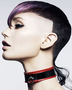 Hair/Coiffure: Karine Jackson, Karine Jackson salon, London UK, assisted by Nicola Hand, OCS Australia Makeup/Maquillage: Margaret Aston Wardrobe/Stylism: Leticia Dare Photos: Andrew O'Toole {igallery Punky Hair, Edgy Hair, Short Hair Cuts, Short Hair Styles, Organic Hair Color, Sideburns, Hair And Beauty Salon, Wild Hair, Cut And Style