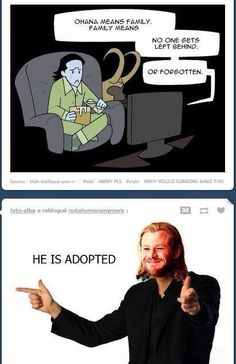 Thor & Loki. This shouldn't have made me laugh