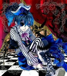 Ciel Phantomhive - Fanart by Unknown Black Butler Funny, Black Butler Ciel, Black Butler Kuroshitsuji, Disney Gender Bender, Best Animes Ever, Book Of Circus, Black Butler Characters, Version Francaise, Butler Anime