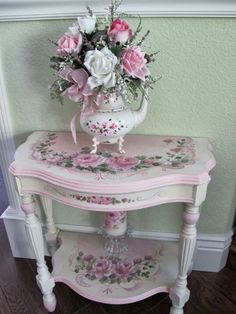 Shabby Chic Nightstand, Shabby Chic Mirror, Shabby Chic Pink, Shabby Chic Kitchen, Vintage Shabby Chic, Shabby Chic Homes, Shabby Chic Decor, Shabby Chic Bedrooms On A Budget, Shabby Chic Side Table