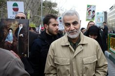 Commander of Iran's Quds Force, Qassem Soleimani attends an annual rally commemorating the anniversary of the 1979 Islamic revolution, in Tehran, Iran. Source: AP
