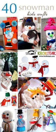 40 snowman - kids crafts