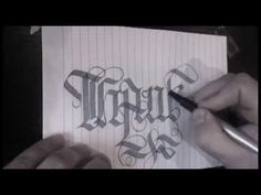 oneline gothic script (one stroke) THANKS by mister gren