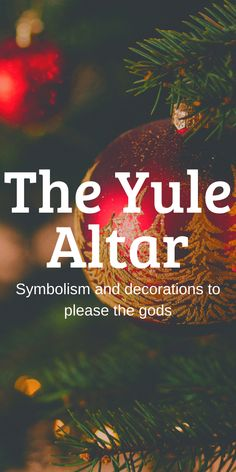 Yule Altar Symbolism And Decorations - Eclectic Witchcraft Winter Solstice Rituals, Winter Solstice Traditions, Summer Solstice, Yule Traditions, Yule Goat, Wiccan Sabbats, Yule Celebration, Pagan Yule, Yule Decorations