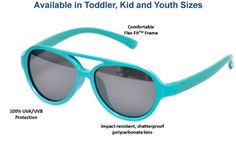 Don't forget to pack the Real Kids shades! Sky sunglasses are available in Toddler, Kid, and Youth sizes