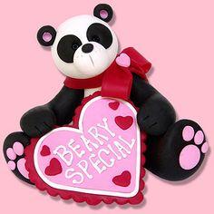 Valentine PANDA BEAR Personalized Figurine by PersonalizedOrnament, $14.95