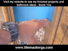 PART 3.How to install built-in shower niche, recessed shelf -- tiling and finishing -  Atlanta