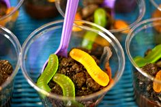 Lion King Safari Party: Easy individual dirt pudding dessert