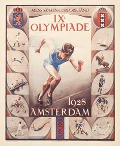 ~ Olympics in Amsterdam ~ Amsterdam, Winter Games, Summer Olympics, Winter Sports, Olympic Games, Vintage Posters, Blues, Auction, Art Deco