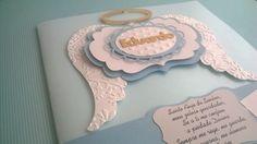 Convite Batizado - Asa de anjo