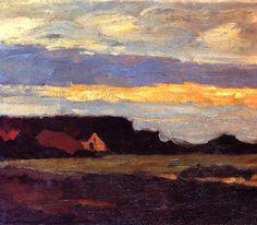 Landscape in Holland, Piet Mondrian Piet Mondrian, Kandinsky, Principles Of Art, Landscape Artwork, Dutch Painters, Post Impressionism, Dutch Artists, Art Moderne, Renaissance Art