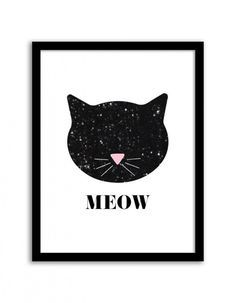 Free Nursery Wall Art Printables : Sequin Cat - Free Nursery Printables for Girls Nursery Decor Inspiration or for Wall Art anywhere in your home! Nursery Wall Art, Nursery Decor, Room Decor, Cat Party, Cat Birthday, Printable Wall Art, Home Art, Art For Kids, Prints