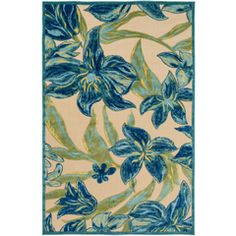 Surya Portera Navy Indoor/Outdoor Area Rug (Common: 8 x Actual: W x L) at Lowe's. Classic design and impeccable artistry blend together simultaneously to construct the striking rugs found within the Portera collection by Surya. Navy Rug, Machine Made Rugs, Indoor Outdoor Area Rugs, Online Home Decor Stores, Throw Rugs, Rug Runner, Floral Prints, Floral Motif, Rectangular Rugs