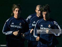 News Photo : Real Madrid's Sergio Ramos , Zinedine Zidane and...