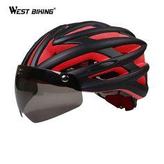 Integraal gegoten Fietshelm Mountainbike Helm Bril Veiligheidsbril Hoed Mannelijke en Vrouwelijke Modellen Fiets Helm
