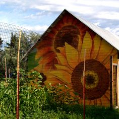 Barn Art! (painting by Annie Stranger)
