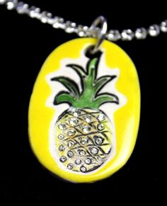 Pineapple Sparkle Surly Necklace with Swarovski Crystals by surly, $48.00