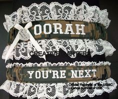 US Marine set with OORAH embroidered on it in by CreativeGarters, $34.00 So getting this!!! Haha I know he will love it!!