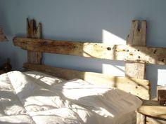Rustic Driftwood Headboard. $389.00, via Etsy.