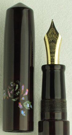 The Nakaya Naka-ai Cigar Blue Rose Raden Fountain Pen  Available Exclusively Through Classic Fountain Pens