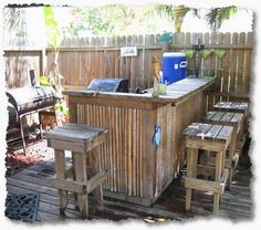 diy pallet patio bar. Reclaimed Pallet Outdoor Bar | Pinterest There, Insides And Full,double, Diy Patio R