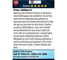 Working with Charles Pecarero at American Liberty Mortgage was wonderful. He and his team...