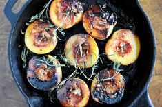 Rosemary, Bacon and Sugar Roasted Peaches I howsweeteats.com