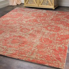 Modern Nature Inspired Hand-Knotted Rug