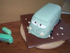 Filmore VW camper from cars movie cake Birthday cakes by Emma Webb