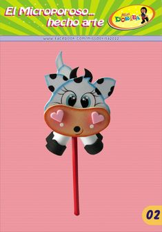 osa en foami salón - Buscar con Google Felt Crafts, Paper Crafts, Diy Crafts, Pen Toppers, Foam Sheets, Nature Crafts, Paper Art, Cow, Minnie Mouse