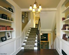 left side of stairs for kitchen handrail