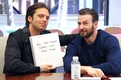 Captain America Civil War: Sebastian Stan and Chris Evans (Photo via Buzzfeed)