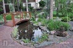 Ландшафтный проект, ландшафтные работы, Водоем с ручьем, лесной участок | Природный Парк Дизайн