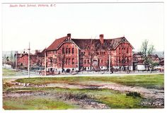 BC – VICTORIA, South Park School (1894), Barber Bros. c.1900s PPC Victoria Bc Canada, Emily Carr, Vancouver Island, History Facts, South Park, British Columbia, West Coast, Barber, Abandoned