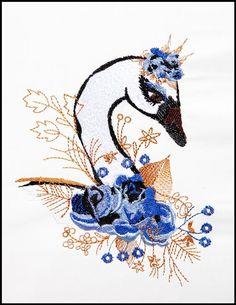 White Swan - Blue Roses