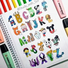 Journal Fonts, Bullet Journal Lettering Ideas, Bullet Journal Notebook, Bullet Journal School, Bullet Journal Ideas Pages, Bullet Journal Inspiration, Lettering Styles, Lettering Design, Hand Lettering Alphabet