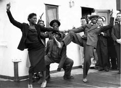 The Lindy Hop dance of the '30s and '40's.