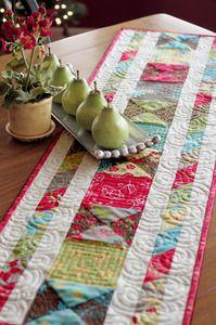 "Summer House Ribbon Table Runner - 14"" x 50"" - by Anka's treasures"